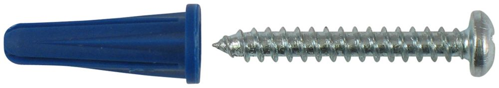 No.8-10 X 7/8 Inch. Plastic Anchors With Screws